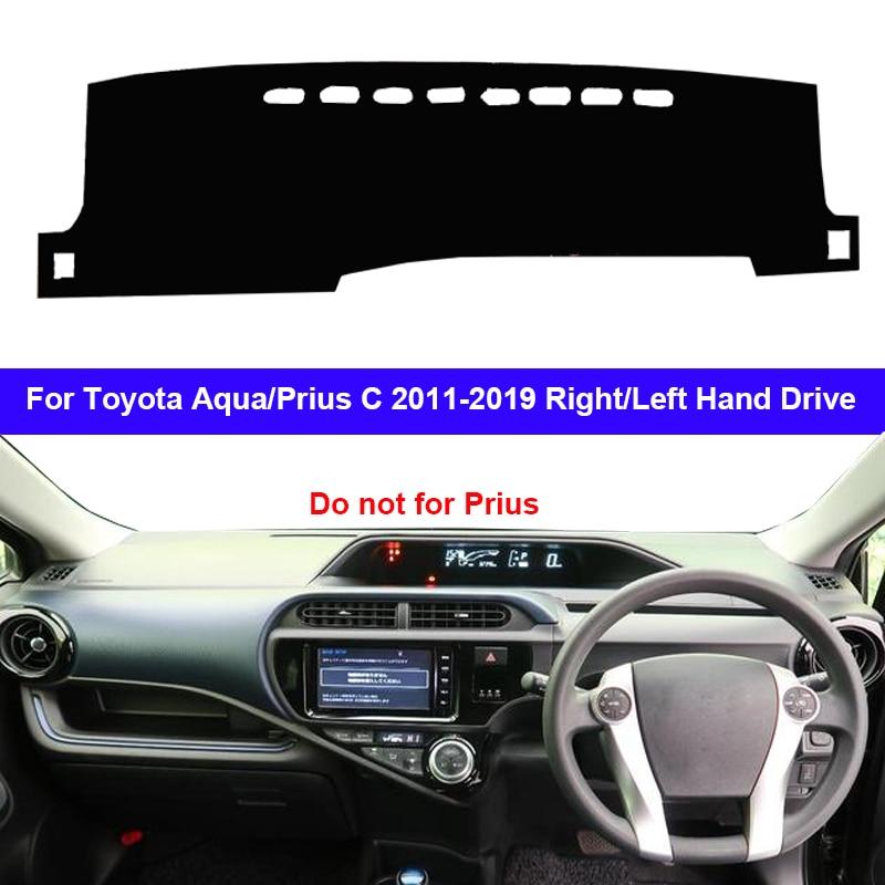 Car Dashboard Cover Dash Mat Carpet Rug For Toyota Aqua Prius C 2011 - 2019 LHD RHD 2 Layers Sunshade Auto Cape 2018 2017 2016
