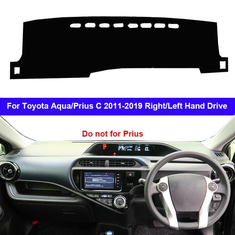 Mobil Dashboard Cover Dash Mat Karpet Permadani untuk Toyota AQUA Prius C 2011-2019 LHD RHD 2 Lapisan Kerai auto Cape 2018 2017 2016