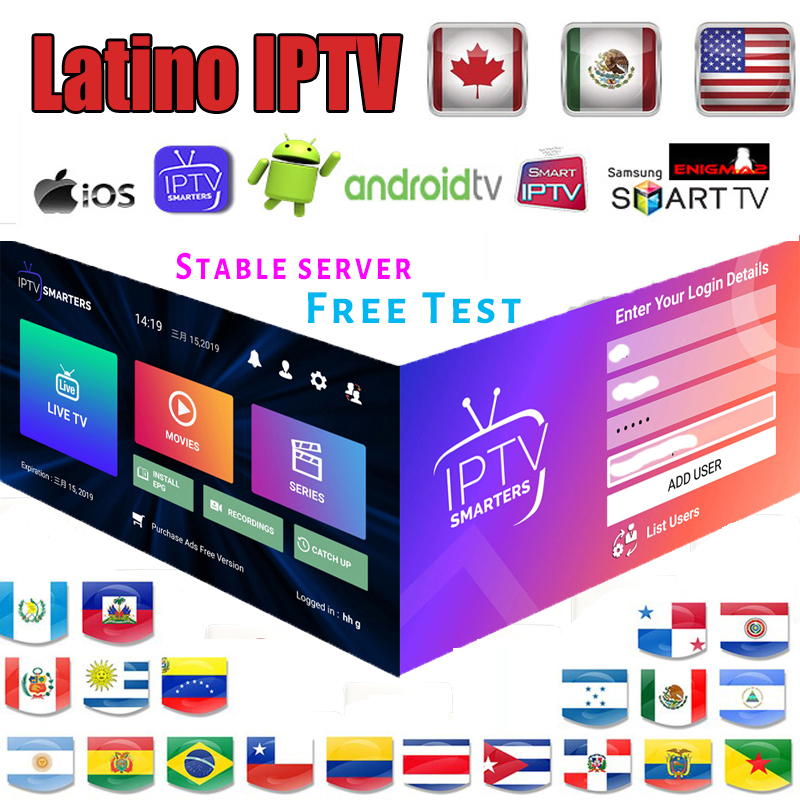 Latin American IPTV 3000+ Channels HD Live Portugal Chile USA Argentina Canada IPTV Adult Sport For Android TV Box Enigma 2 M3u