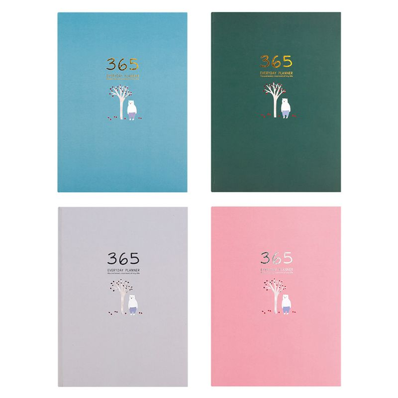 Cute Stationery Notebook 365 Planner Weekly Monthly Daily Diary Planner Notebooks Journals Business Office School Supplies J6PA