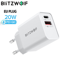 Blitzwolf BW S20 20W 2 Poort PD3.0 QC3.0 Wall Charger Ondersteuning Pps Fcp Scp Afc Snel Opladen Voor Iphone 12 12 Mini 12 Pro Max