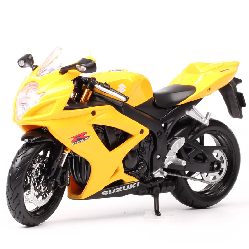 Masito 1/12 Scale Suzuki GSXR600 GSX Supersport Diecasts & Toy Vehicles Model Motorcycle Motorbike Toy Miniatures Adult Souvenir
