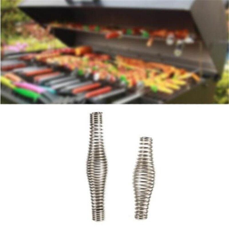 Нержавеющая сталь барбекю яма гриль ручка принадлежности для барбекю инструменты пружина дровяная печь коптильня эластичность стальной