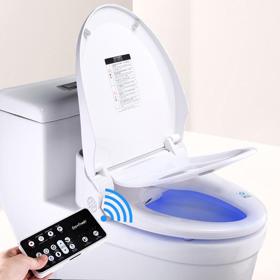 Ecofresh smart toilet seat cover electronic bidet cover clean dry seat heating wc intelligent toilet seat cover child seat 4