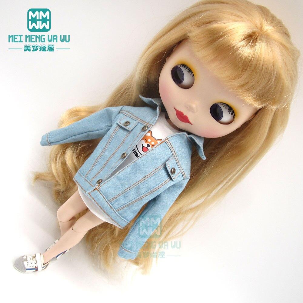 1pcs Blyth Doll Clothes Fashion Denim Clothing, T-shirts  Shoes For Blyth Azone OB23 OB24 1/6 Doll Accessories