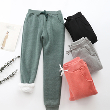 2019 Spring Autumn Fleece Sweatpants Women Casual Sports Pants Trousers Women/man Sweat Pants Female Plus Size Cashmere Harem