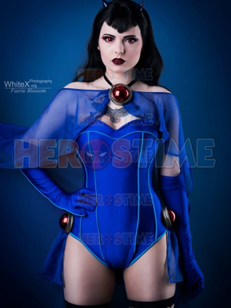 Bombshells Raven Costume DC Bombshells Rachel Roth Costume Hot Sale Anime Sexy Clothes Cloak Rachel Roth Bodysuit