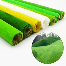 6 colors 50x50cm Lawn indoor decoration artificial plastic false turf green carpet model making architecture