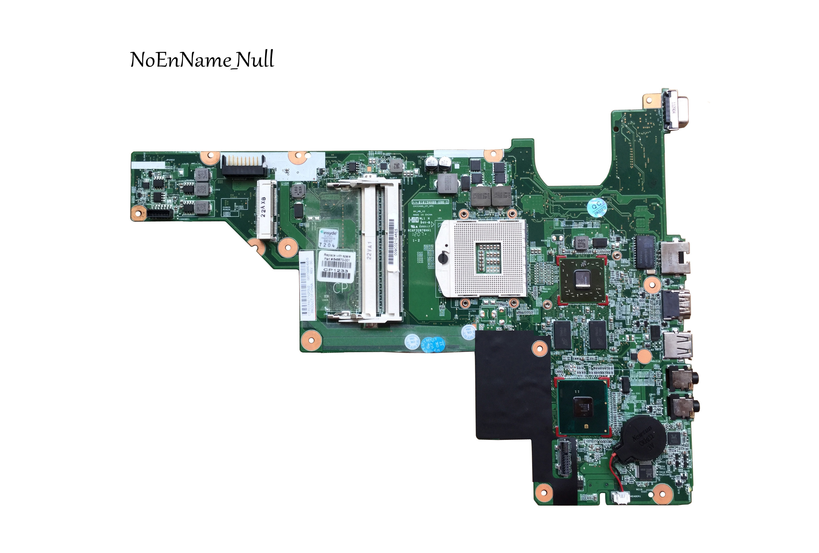 646670-001 Free Shipping Laptop Motherboard For HP CQ431 431 631 Motherboard 646670-001 Fully Tested
