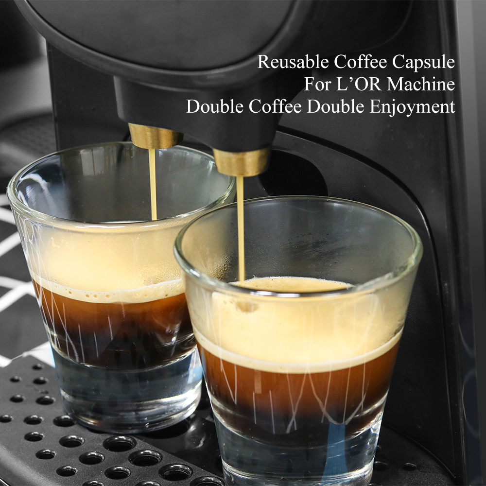 Refillable XXL Coffee Capsule Pod For L'Or Barista LM8012 Machine Stainless Steel Coffee filters For LOR Machine