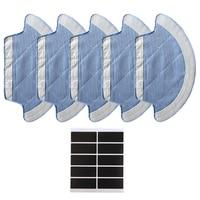 5 шт Швабра Ткань и 10 шт Пастер для ilife v55 pro робот запасная часть для пылесоса аксессуары Швабра очиститель для дома