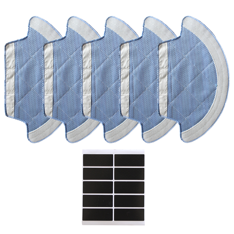 5PCS Mop Cloth 10PCS Paster for ilife v55 pro Robot Vacuum Cleaner Replacement Part Accessories Mop Cleaner For Home appliance