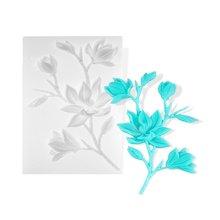 Цветок розы листья лилии Цветочная тема УФ Смола силиконовая