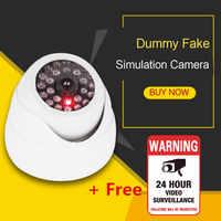 2020 Simulation Sicherheit Dome Dummy Gefälschte Kamera mit Rot Blinkende LED Licht Indoor Outdoor Video Überwachung Sicherheit kamera
