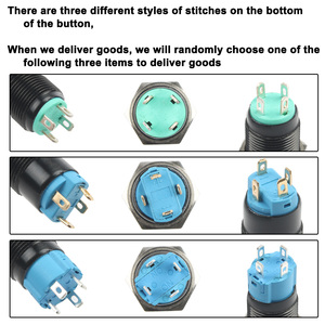 Image 5 - Black Push Button Switch 4 Pin 12mm Waterproof illuminated Led Light Metal Flat Momentary Switches with power mark 3V 6V 12V 24V