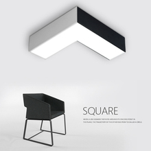 Modern Simple Creative Geometric Ceiling Lamp Nordic LED Ceiling Light Living Room Office Hotel Company Corridor Lampa Sufitowa