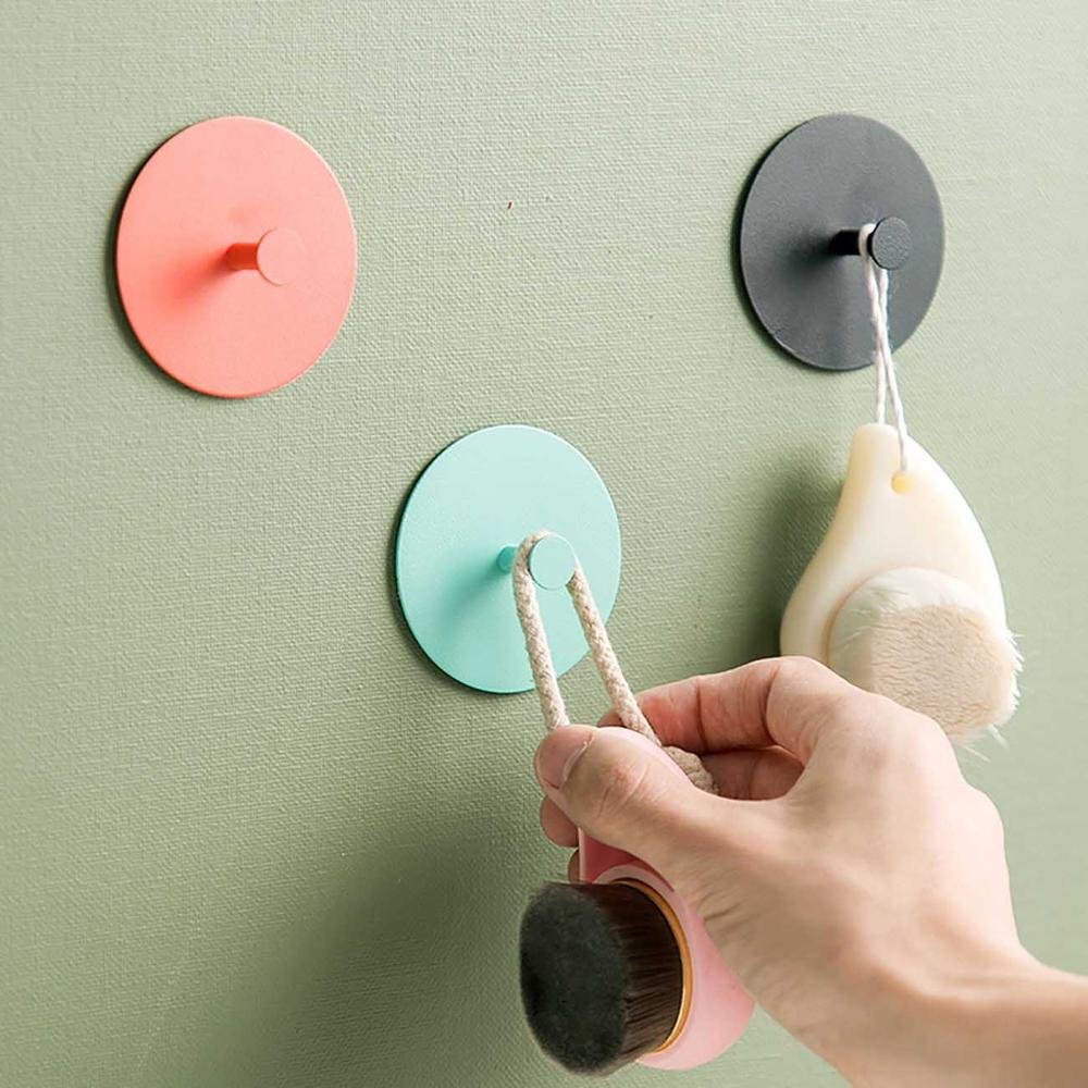 1PC Round Keys Wall Holder Hooks Metal Coat Bath Ball Headband Hanger Home Decoration Accessories