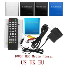 LEORY 1080P Mini odtwarzacz multimedialny HDD HDMI AV USB HOST Full HD z czytnikiem SD karta MMC obsługa H.264 MKV AVI 1920*1080P 100 mb/s
