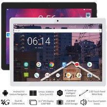 Tablet 10.1 Polegada android 9.0 octa núcleo tablet pc com 2gb ram 32gb armazenamento aprendizagem almofada 4g lte chamando guia telefone comprimidos 10 pulg