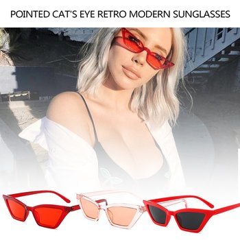 Najwyższej jakości mody damskie okulary mała ramka okulary przeciwsłoneczne Cat Eye UV400 okulary przeciwsłoneczne okulary ulicy okulary damskie okulary tanie i dobre opinie CN (pochodzenie) Jeden rozmiar Kobiety MULTI PC PC metal UV400 23 * 135 * 155mm anti ultraviolet UV400