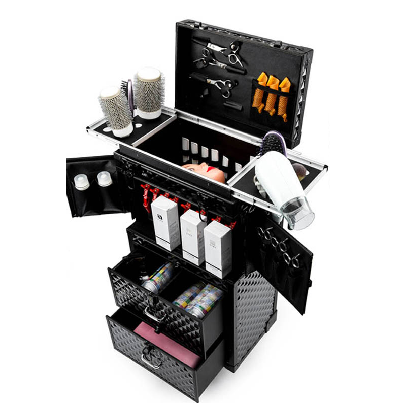 Image 5 - Professional Hairdressing rolling luggage Toolbox Salon Hairdresser trolley suitcase Beauty Salon Large Drawer ToolboxRolling Luggage   -
