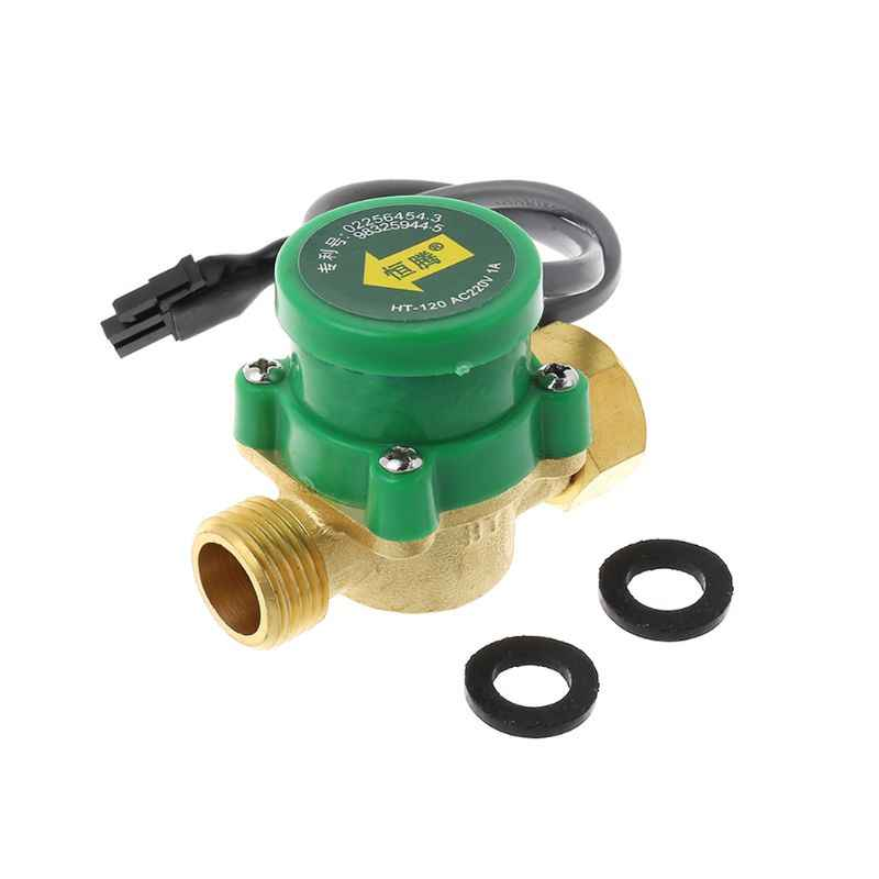 "HT-120 G1/2 ""-1/2"" Hot Air Sirkulasi Pompa Booster Flow Switch Pompa/ off Valve 1.5A Tidak Pompa"