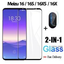 2-in-1 3D Tempered Glass For Meizu-16-S 16X Screen Protector film meizu 16 XS Original Camera glass meizu-16-s Protective