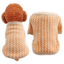 Милый зимний свитер для домашних животных кошек и собак теплый