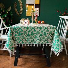 Настенная скатерть с принтом рождественской елки жиростойкая
