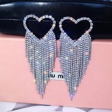 Luxury Gold Silver Color Metal Long Chain Tassel Drop Earrings Punk Style Women Dangle Earrings Party Jewelry 2019 New punk style geometric chain drop earrings