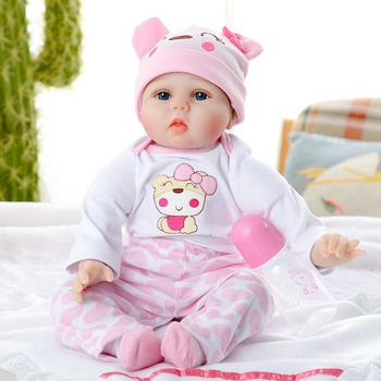 JULY'S SONG 53CM Reborn Baby Dolls Adorable Lifelike Baby Reborn Dolls For Girl Cloth Body Soft Accompany Birthday Gift For Kids