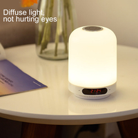 Multi functional Bluetooth Speaker FM Radio Charging Bedside Night Light Support AUX EM88