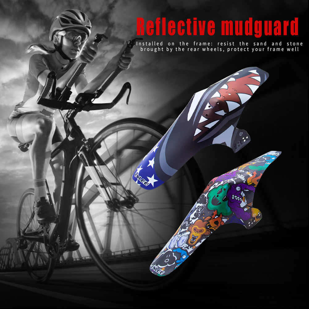 Reflective MTB Mountain Bike Wings Mudguard Bicycle Road Front Rear Wheel Fender