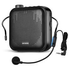 Mini alto-falante portátil, megafone, amplificador de voz, com microfone, ultraleve, recarregável, para professores