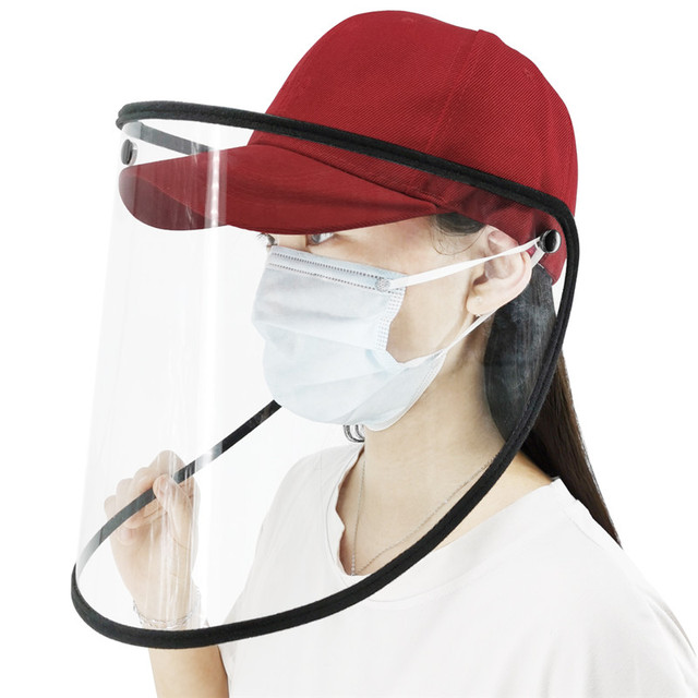 2020 Protective Hats Anti-saliva and Anti-spray Protective Cap Removable Baseball Cap with Transparent Face Shield Men Women 1