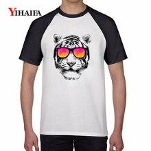 T-shirt Harajuku Hip Hop Bear 3D Print Animal T-Shirt Mens Womens Graphic Tees Cotton Casual Tops Unisex White