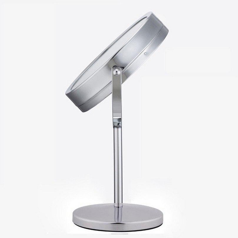 rotação desktop suporte 17 leds espelho cosmético