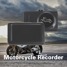 Motorcycle Video Recorder DVR Dash Cam 32GB HD 1080P+720P Front Rear Camera Dual Lens Night Vision Waterproof Driving Recorder