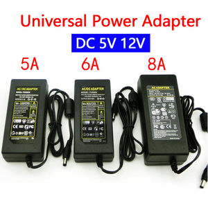 12V Power Adapter 12 V Supply DC 12V 5V 5A 6A 8A DC 220v To AC 12V 5 V Universal Switching Transformers Adapter+ EU US Plug Line