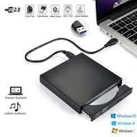 Tonbux Slim External Optical Drive USB 2.0 DVD Combo DVD ROM Player CD-RW Burner Recorder For Macbook Laptop Desktop PC