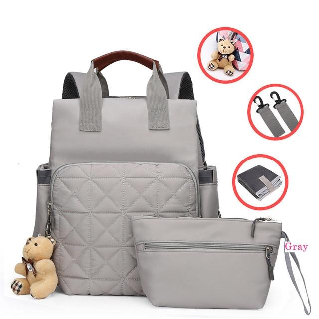 Múmia mochila grande capacidade maternidade fralda do bebê bolsa de viagem tote designer de enfermagem saco de carrinho de fraldas para cuidados com a mãe bebe