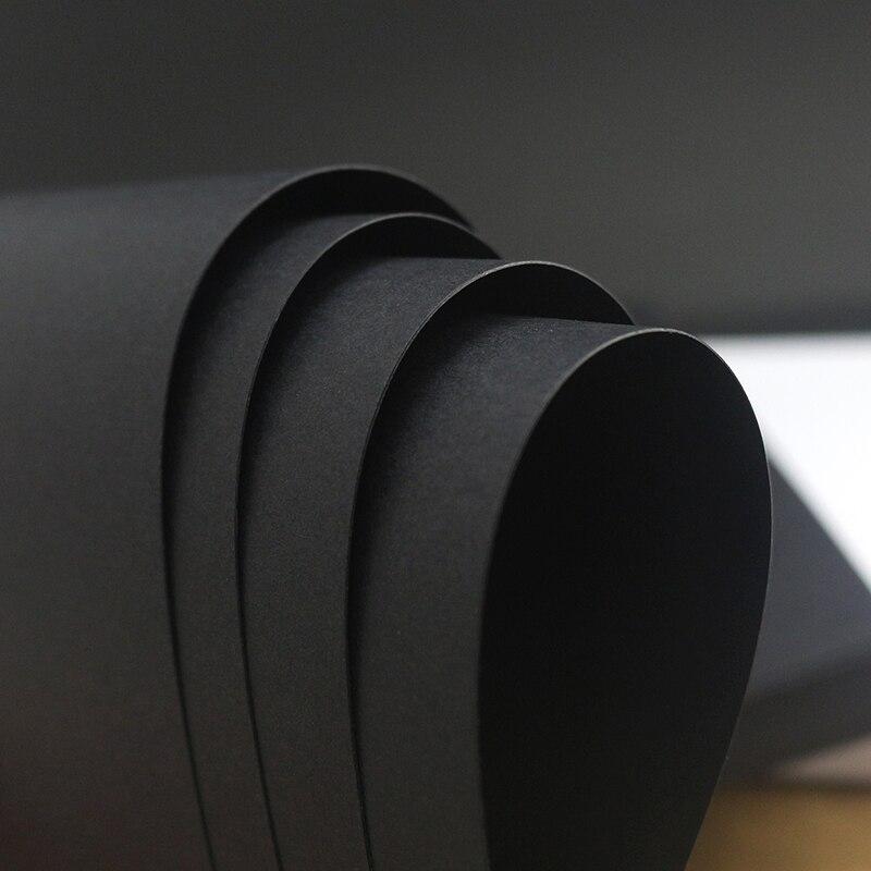 A4 noir artisanat papier carte faisant carton épais Kraft papier fait à la main Art dessin bricolage Graffiti brun blanc blanc carte papier 450g
