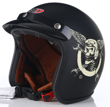 Мотошлем с открытым лицом в горошек мотоциклетный шлем стиле