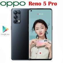 Original Neue Offizielle OPPO Reno 5 Pro 5G Handy Octa Core Dimensity 1000 + 6,55 inch OLED 64MP kamera 4350Mah 65W Super VOOC