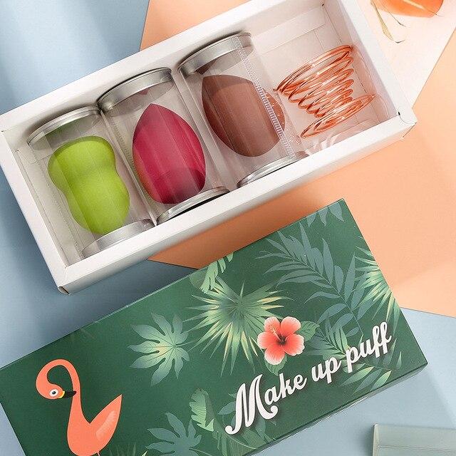 Hydrophilic Non-Latex Gourd Water Drop Powder Puff Cosmetic Egg Set Sponge Makeup Egg Set Beauty Tool Customizable 3
