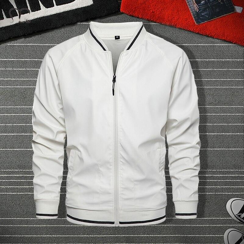 Куртка на молнии Мужская Уличная модная куртка-бомбер пальто Мужская черная белая верхняя одежда ветрозащитные мужские пальто карго спор ...