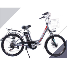 24 inch Electric bike aluminum alloy e bike Lithium battery electric bicycle variable speed front and rear disc brakes
