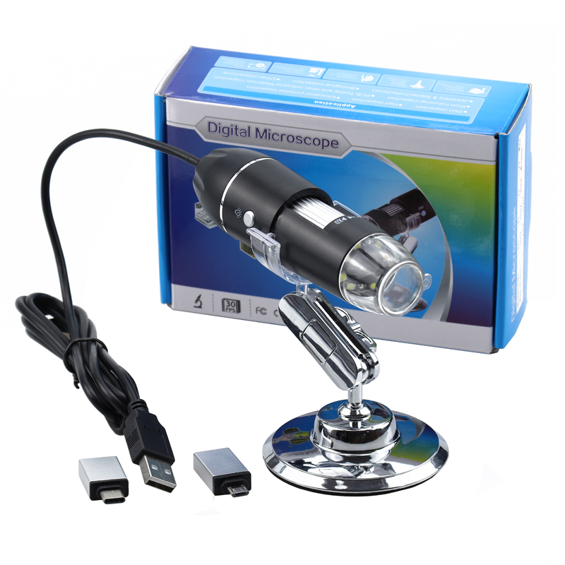Mega Pixels 500X 1000X 1600X 8 LED Digital USB Microscope Microscopio Magnifier Electronic Stereo USB Endoscope Camera