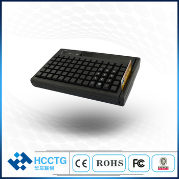 USB+PS/2 interface POS Programmable Keyboard 78 keys with MSR capacitive optional Magentic card reader KB78