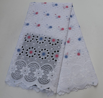 Latest African Cotton Swiss Voile Lace Fabric High Quality 2019 African Swiss Voile Lace In Switzerland For Party